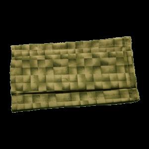 Masque COVID-19 carreaux verts